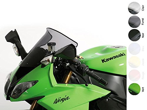 MRA SpoilerScreen Windshield for Kawasaki ZX6R, '09- and ZX10R, '08-'10 (Smoke Gray)