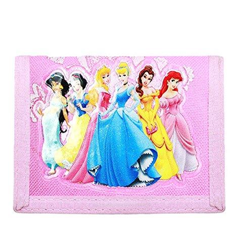 Official Disney Princess Wallet Featuring New Princess Tiana, Cinderella, Ariel, Jasmine, Bell, and Sleeping Beauty; Great Gift -