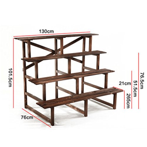 Corner flower/solid wood/[multilayer]/flower/step flower/potted flower racks/flowerpot shelves/anti-corrosive carbonized flower racks-I by SHDUAYGSCXS