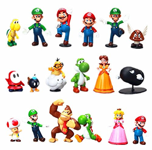 "Children's Toy Super Mario Brothers Play set Mini Figures 1.5""-2.5""(18 count)"