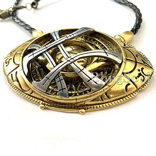 BlingSoul New Doctor Strange Costume Cosplay Jewelry - Eye of Agamotto Necklace (Large) by BlingSoul (Image #2)