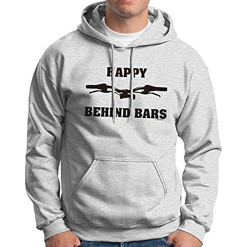Happy Behind Bars Dirt Bike Hoodie Sweatshirt XL Ash