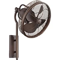 Quorum 92413-86, Veranda Oiled Bronze 13 Outdoor Wall Fan with Wall Control
