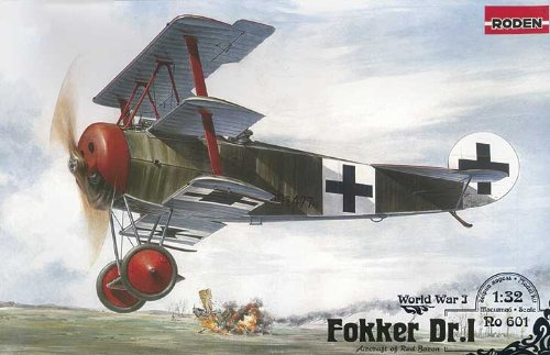 Roden Fokker Dr.I German Fighter Airplane Model Kit