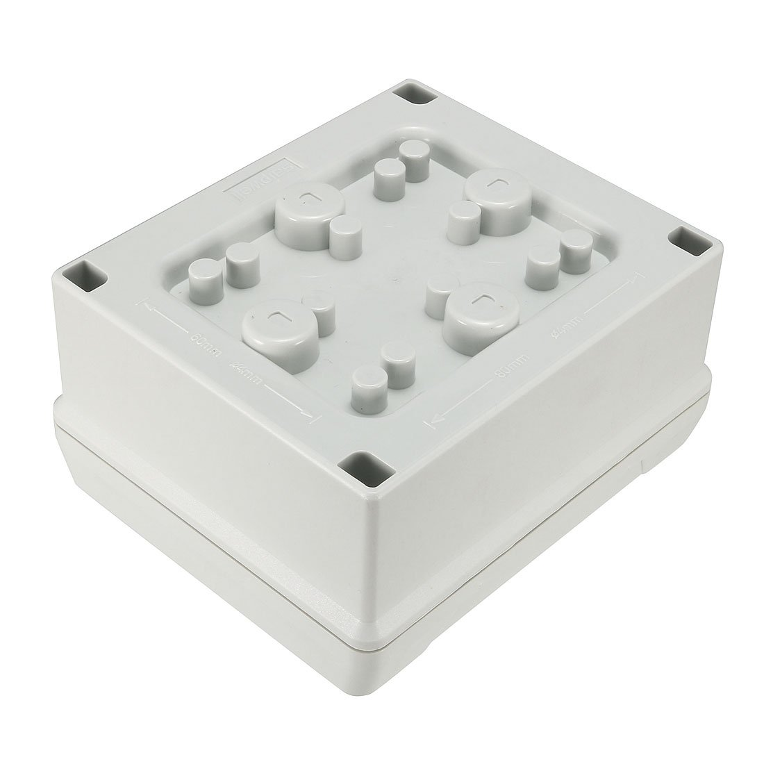 uxcell 5.5''x4.7''x2.8''(139mmx119mmx70mm) ABS Flame Retardant Dustproof IP65 Junction Box Universal Project Enclosure w 5Terminal by uxcell (Image #3)