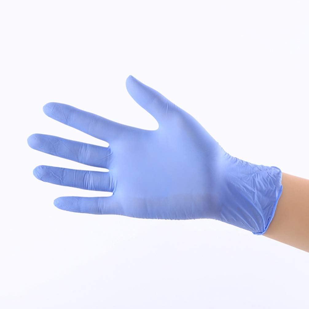 Hemoton 100 Piezas Guantes de Nitrilo Desechables Guantes de Examen Impermeables Guantes Multiprop/ósito para Limpieza Lavado Trabajo Hospital S