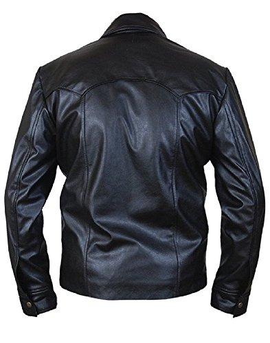 in in in speciale Design Design Design Fashion con giacca Sheep della Black chiusura pelle bottone Classyak a Men's tqYWff