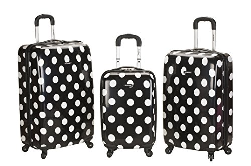 rockland-luggage-3-piece-laguna-beach-upright-luggage-set-black-dot-medium