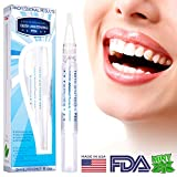 Professional Grade Teeth Whitening Pen - Safe and Gentle, 35% Carbamide Peroxide, Gel Made in USA, Painless, No Sensitivity, with Natural Mint Flavor