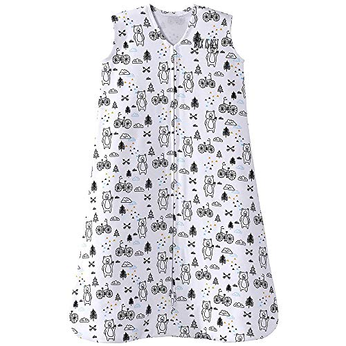 Halo Sleepsack 100% Cotton Wearable Blanket, Huggy Bears, Large -
