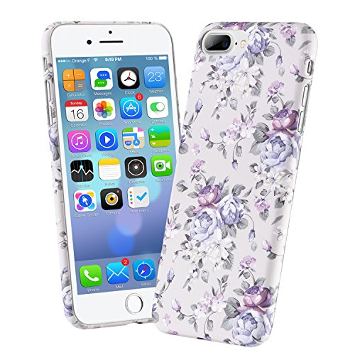 PASBUY 95C-i7-4.7 Cute Floral 3D luminous water paste Flower Pattern Hard High Impact Slim Protective PC Case with glow in the dark for iPhone 7 4.7
