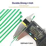 HS Nylon Wire Ties Green Zip Ties 1000 Pieces 18