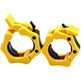 """Greententljs Olympic Barbell Clamps 2 inch Quick Release Pair of Locking 2"""" Pro Olympic Weight Bar Plate Locks Collar…"""
