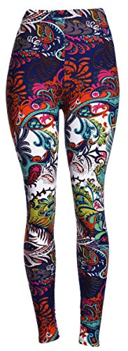 Chromatic Splash One Size Printed Leggings