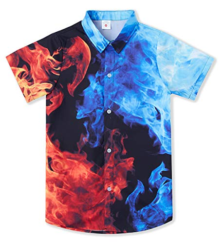 Big Boy's Large Hawaiian Party Shirts 00s 3D