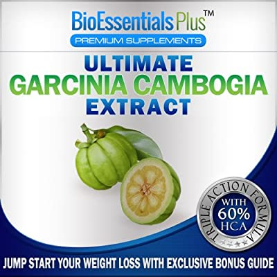 Garcinia Cambogia Extract - Premium Weight Loss Supplement with All Natural Appetite Suppressant & Fat Burner. 1300 mg Formula with 60 Percent Pure HCA, Calcium, Chromium, and Potassium for Safe and Effective Weight Loss. 100% Weight Loss Guarantee or