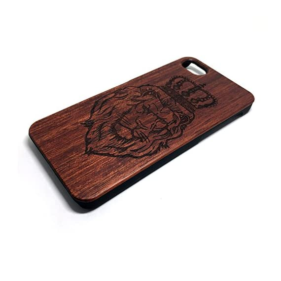 iPhone 7/iPhone 8 Case, Slim Wood Protective Cover Case for iPhone 7,Handmade Wood & Slim Durable Polycarbonate Bumper,Nature Seris(Eye of Providence) (Rosewood Lion Crown) 3 √ Compatible with iPhone 7 (Not for iPhone7 Plus) √ Naturally wood different,each wood back has a unique grain and texture. √ Specially designed for iPhone 7, has precise design for speakers, charging ports, audio ports and buttons.