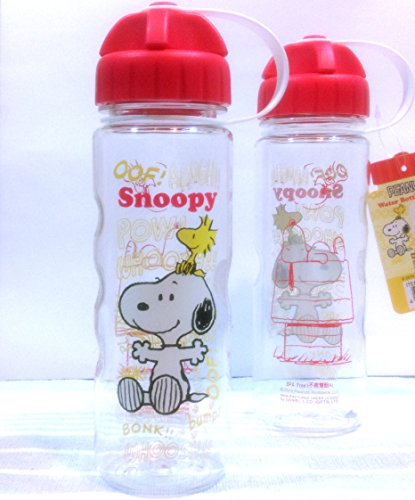 Snoopy Tritan BPA Free Water Bottle Wide / Narrow Mouth 17.5 Ounce