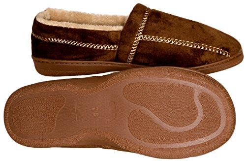 Deluxe Comfort Modern Moccasin Memory Foam Mens Slipper, Size 11-12 - Stylish...