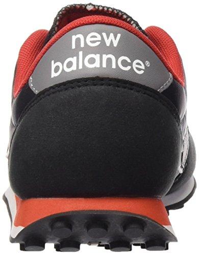 New Balance Unisex-Erwachsene U410v1 Low-Top Schwarz (Black/Grey/Orange)