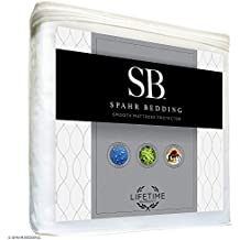 Spahr Bedding Waterproof Mattress Protector - Smooth Hypoallergenic Mattress Cover - Breathable and Noiseless - Vinyl Free Bed Topper - King Size