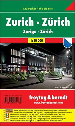 Zurich City Pocket Map 1:10K (English, Spanish, French, Italian