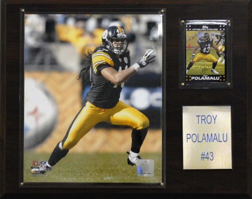 NFL Troy Polamalu Pittsburgh Steelers Player Plaque