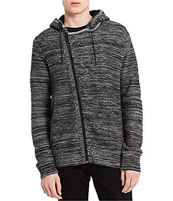 Calvin Klein Mens Asymmetrical Hoodie Sweatshirt