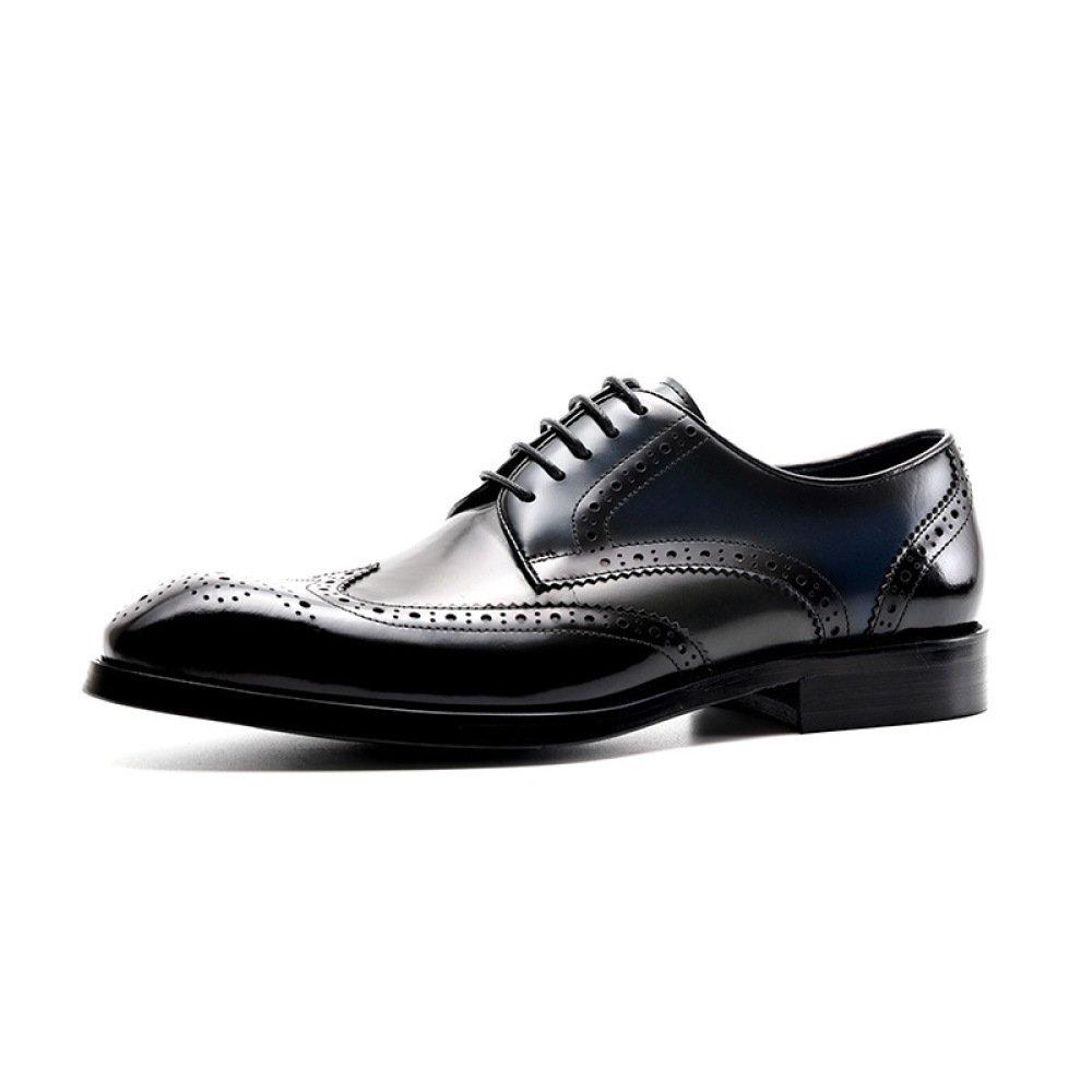 DHFUD Frühling Und Herbst Geschäft Kleid Schuhe British Spitz Carving Mode Herren Freizeitschuhe
