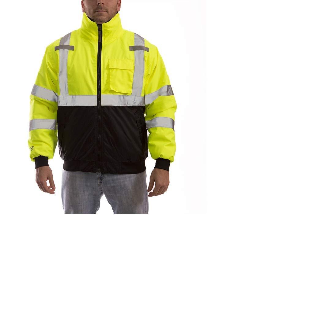 Orange,S FONIRRA Hi-Viz Safety Jacket for Men with Reflective Liner,Waterproof 100/% Polyester ANSI Class 3 Full Zipper Bomber Work Jacket Hoodie