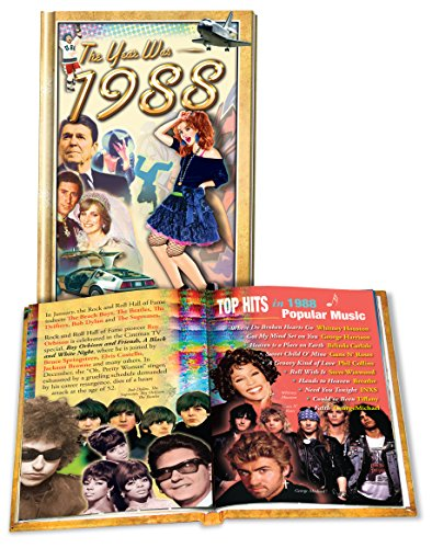 The Year Was 1988 Mini Book: Happy 31st Birthday or Anniversary Present, Hardcover – 2010