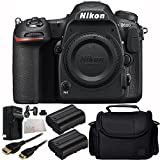 Nikon D500 Camera (Body Only) - International Version (No Warranty) 8PC Accessory Kit. Includes 2 Replacement EN-EL15 Batteries + AC/DC Rapid Home & Travel Charger + Mini HDMI Cable + Carrying Case + Microfiber Cleaning Cloth