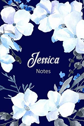 Jessica Notes: Personalized Journal with Name with Feminine Interior
