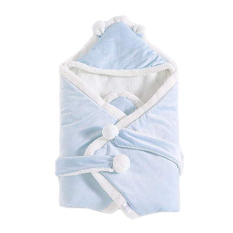 Bebé Recién Nacido Manta Cama Saco De Dormir 0-8 Meses, Azul,80X80cm