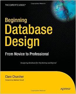 Book By Clare Churcher - Beginning Database Design (12/18/06)