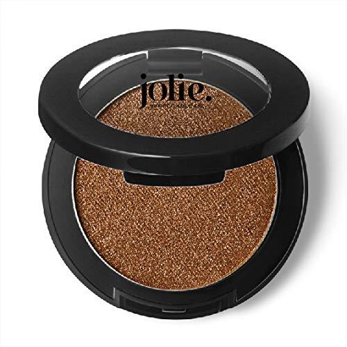Jolie Silky Molten Pressed Powder Eyeshadow, Ultra Blendable Metallic Shimmery Finish – Sandalwood