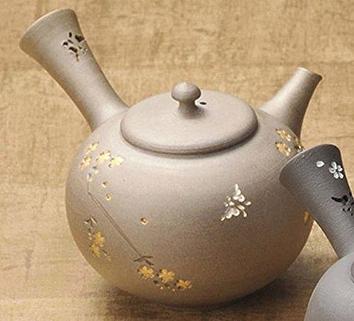 Japanese ceramic Tokoname ware. Kyusu teapot. -