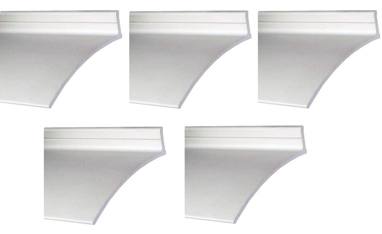"Pemko Aluminum Door Bottoms Overhead Rain Top Drip, Clear Anodized, 2-1/2""W x 52''L x 5/8""H - 346C52 (5-(Pack))"
