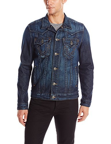 4efd02e99 Amazon.com: True Religion Men's Jimmy Slim Western Jean Jacket ...