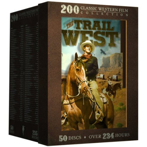 The Trail West - 200 Classic Western Films: Boot Hill - Django Kill! - Angel and the Badman - My Pal Trigger - God's Gun - Kid Vengeance - McLintock! - The Outlaw + 192 more! (Western Set Box)