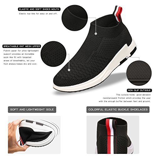 SANMIO Athletic Lightweight Shoes Shoes Sneakers Black Slip Sports Breathable Women¡¯s Casual On wwfr4qH5