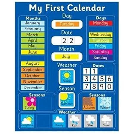 Nevera Magia magnética Mi Primer Calendario azul: Amazon.es: Hogar