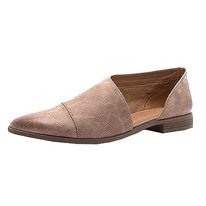 27e35f9ed2a Amazon.com: SUKEQ Women Girls Fashion Pointed Toe Side Cut Out Flat ...