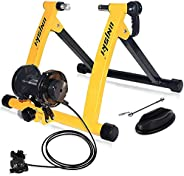 unisky Bike Trainer Stand Indoor Exercise Bicycle Training Stand Magnetic Riding Stand for Mountain & Road