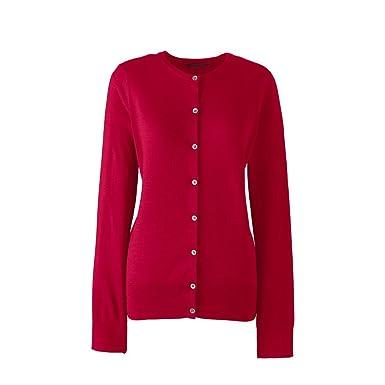 8294165505b Lands  End Women s Supima Cotton Cardigan Sweater