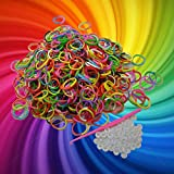 Energi8_blu Rubber Band Refill KIT Half & Half Color 600pc 25 S Clips Loom Bracelet