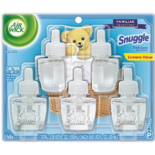 Air Wick Scented Oil Refill, Snuggle Fresh Linen, 5 refills (Pack of 12) by Air Wick