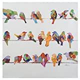 Yosemite Home Decor ARTACC0148 Birds on a Wire II Acrylic Painting, 36-Inch