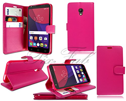 quite nice f2b58 0d45c For Alcatel Pixi 4 (5) 3G OT-5010X New Pink Leather Flip Wallet Phone Case  + Screen Guard