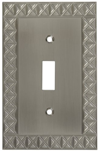 (National Hardware S803-304 V8044 Pinnacle Single Switch plates in Nickel)